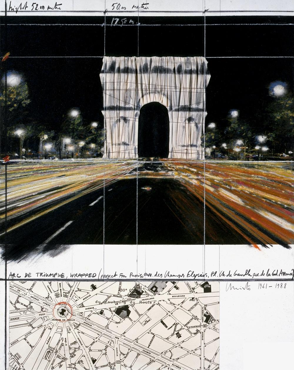 パリの街をそぞろ歩きするなかで出会ったアート、そしてチョコレート。「包まれたパリ凱旋門」